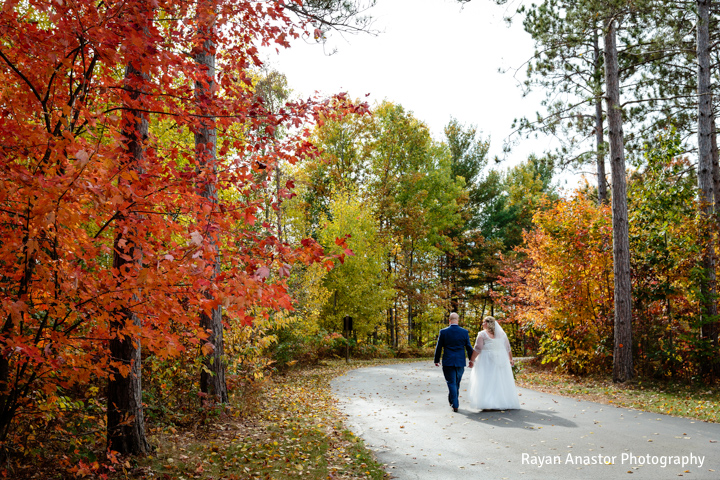 BlueBridge | BlueBridge Event Center | Michigan Event Center | Michigan Wedding Venue | Fall Wedding | Bride + Groom