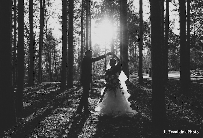 BlueBridge | BlueBridge Event Center | Michigan Event Center | Winter Wedding | Bride + Groom