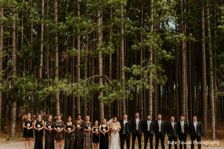 BlueBridge | BlueBridge Event Center | Michigan Event Center | Michigan Wedding Venue | Fall Wedding | Bride + Groom | Bridesmaids | Groomsmen | Bridal Party