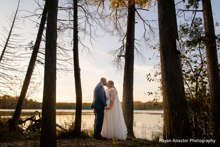 BlueBridge | BlueBridge Event Center | Michigan Event Center | Michigan Wedding Venue | Ellis Lake | Fall Wedding | Bride + Groom