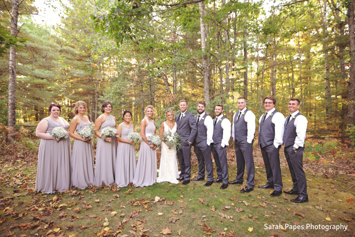 BlueBridge | BlueBridge Event Center | Michigan Event Center | Michigan Wedding Venue | Flower Design | Summer Wedding | Bride + Groom | Bridesmaids | Groomsmen | Bridal Party