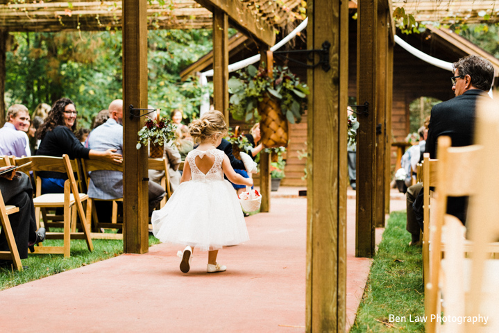 BlueBridge | Blue Chapel/Centre | Summer Wedding | Fall Wedding | Northern Michigan Wedding Venue | Flower Girl