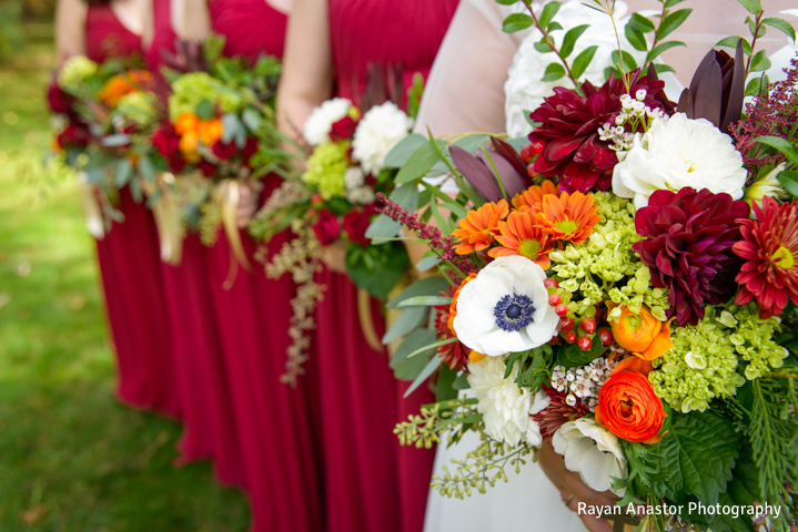 BlueBridge | BlueBridge Event Center | Michigan Event Center | Michigan Wedding Venue | Flower Design | Bride | Bridesmaids